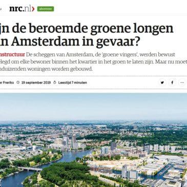 NRC (19 sept. '19): Zijn de beroemde groene longen van Amsterdam in gevaar?
