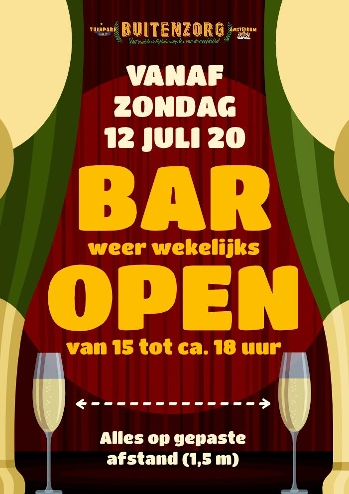Bar weer open