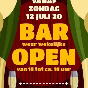 Bar weer open